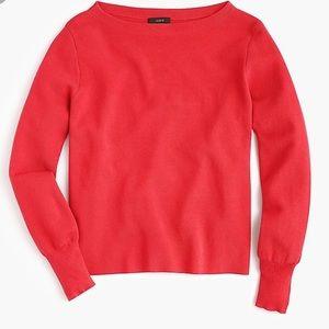 J.crew subtle boatneck sweater burnt orange sizeXS